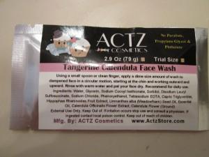Actz face wash