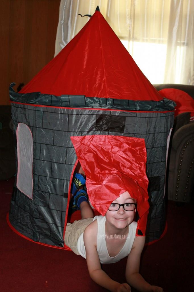 castle tent boy door