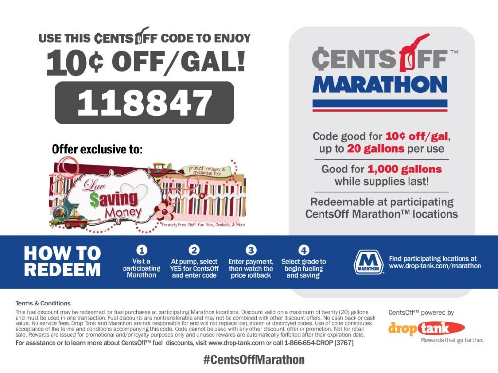 10 cents off per gallon of gas at marathon locations heres how marathon gas cents off coupon fandeluxe Image collections