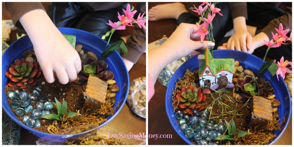 How To Make A Lighted Container Fairy Garden Luv Saving