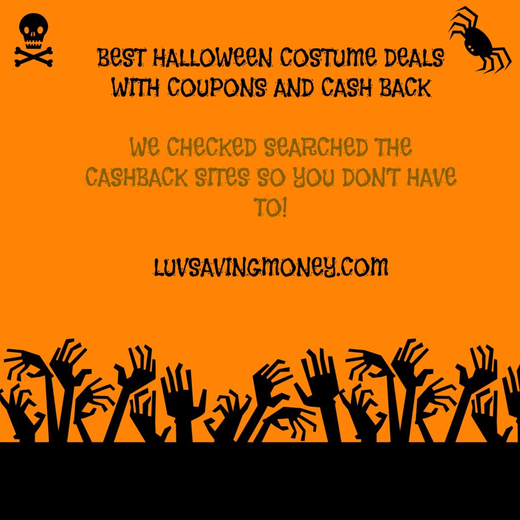 Why are Halloween costumes so expensive. If weu0027re lucky we really like and wear them more than one season or even luckier if we donu0027t grow out of them.  sc 1 st  Luv Saving Money & Best Halloween Costume Deals With Coupons and Cash Back u2014 Luv Saving ...