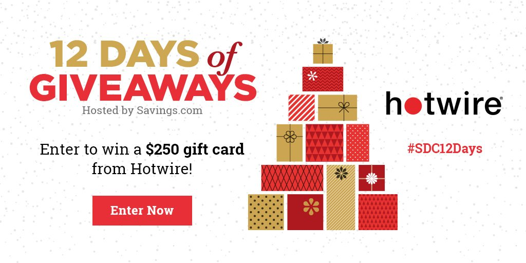 12 Days of Giveaways: $250 Hotwire Gift Card