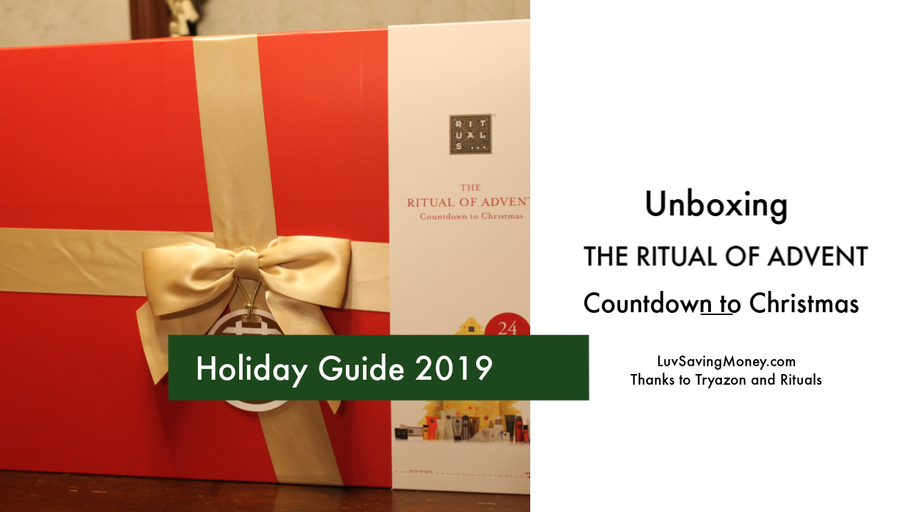 Rituals – The Ritual of Advent Countdown To Christmas Review and Unboxing