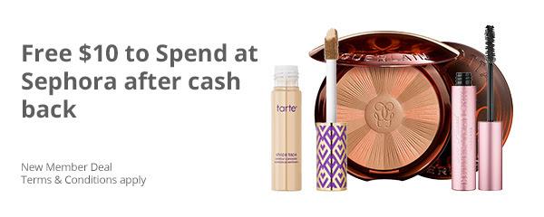 Spend $10 or More at Sephora Get $10 Cash Back