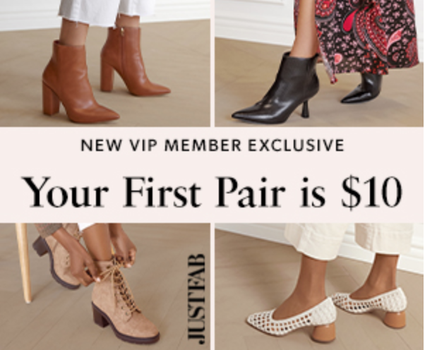 Get a Pair of Shoes for Just $10 with JustFab, Here's how