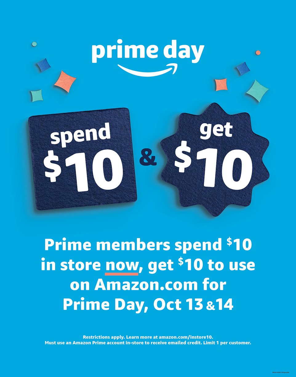 """More Info On The """"Spend $10, Get $10"""" Prime Day Offer"""