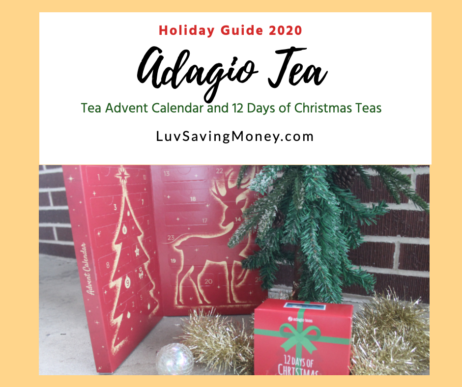 Adagio Tea Advent Calendar and 12 Days of Christmas Teas